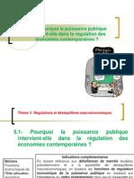 thème 5.1 Pourquoi la puissance publique intervient-elle dans la régulation des économies contemporaines ?