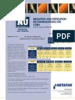Irrigation and Fertigation Corn