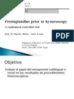 Misoprostol en Histeroscopia