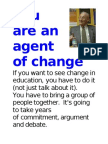 POSTERS in COLOR Fischler Quotes to Become an Agent of Change