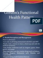 Sample Gordon's Functional Health Pattern