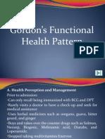 Sample Gordon's Functional Health Pattern