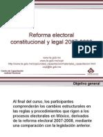 21Reforma Electoral 12 julio 2011 VF