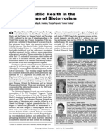 Public Health in the Time of Bioterrorism