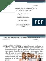 Procedimiento de Seleccion de Licitacion Publica