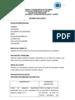 Formato Informe Psicológico