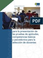 Concurso docente 2009