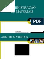 AULA 01 - INTRODUÇÃO A ADM DE MATERIAIS