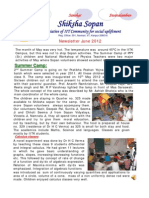 Shiksha Sopan June 2012 Newsletter