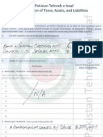 Fauzia Kasuri - PTI Leadership - Financial Asset Declaration