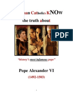 Do RCs Know About Pope Alexander VI?