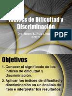 Indices Dificultad y Discriminacion