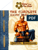 Oriental Adventures - The Complete Exotic Arms Guide by Azamor