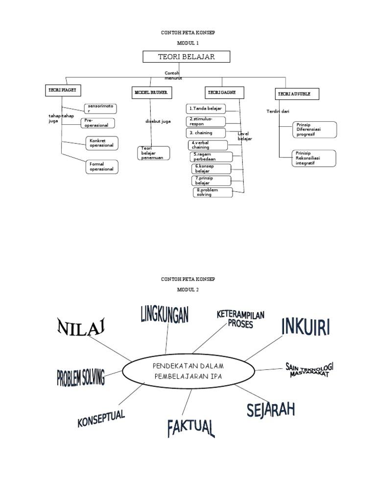 Contoh Peta Konsep Modul 1