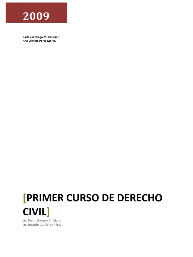 PRIMER CURSO DE DERECHO CIVIL