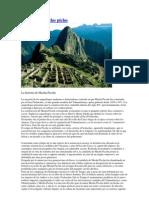 Historia de Machu Pichu