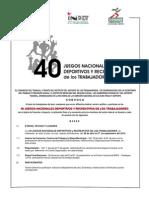 Convocatoria Naciocional 40j 4pag