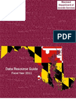 Maryland Department of Juvenile Services Data Resource Guide FY 2011
