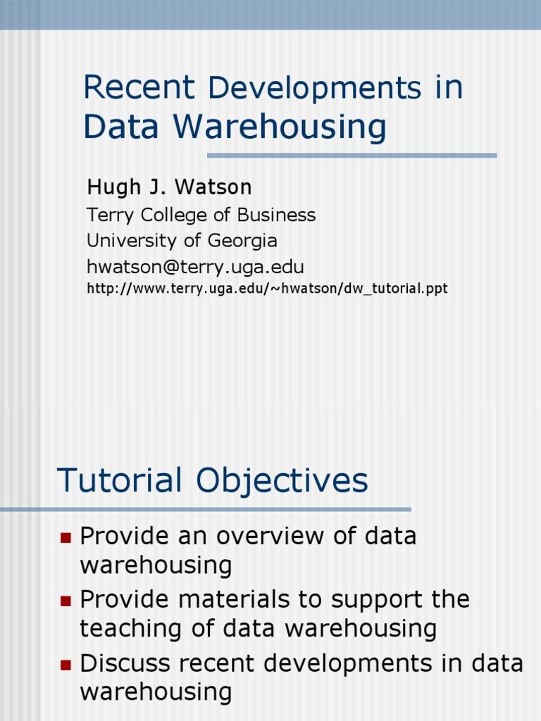 Dw Tutorial | Data Warehouse | Information Management