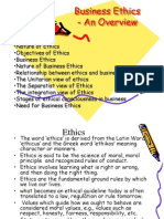 Business Ethics - An Overview