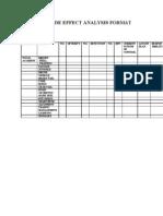 Failure Mode Effect Analysis Format
