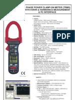 Digital Portable Power Clamp Harmonics KM 2709