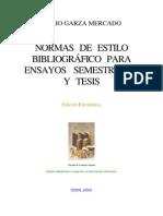 Garza Mercado Dario Normas de Estilo Bibliografico Para Ensayos Semestrales y Tesis 1995