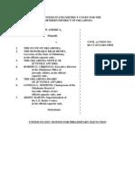 US' Motion for Preliminary Injunction JI-OK-0002-0006 Aug 15, 2007