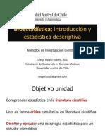 Bioestadística I; Estadística descriptiva