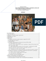 """Final report on the regional workshop & training """"Getting involved with the Global Fund"""