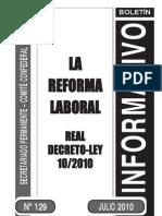 Reforma Laboral 2010