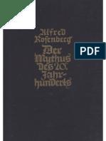 Rosenberg, Alfred - Der Mythus Des 20. Jahrhunderts (146. Auflage 1939, 740 S., Scan, Fraktur)