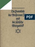 Rosenberg, Alfred - Die Protokolle Der Weisen Von Zion Und Die Juedische Weltpolitik (6. Auflage 1933, 143 S., Scan, Fraktur)