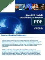 CREE LED CRI Ra R8 to R14 - Modules Customer Presentation