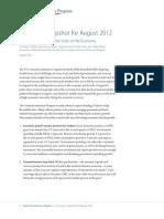 Economic Snapshot for August 2012