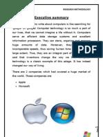Research methodolgy -Apple vs Microsoft