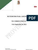 RUTÓMETRO CORREO POSTAL 2012