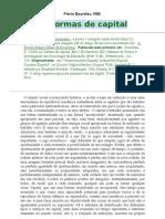 As Formas de Capital. Pierre Bourdieu 1986