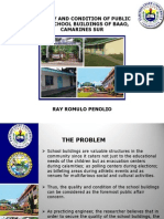 quality and condition of public high school buildings of baao, camarines sur:PPT