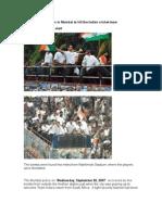 Muslims Plant Bombs in Mumbai to Kill the Indian Cricket Team
