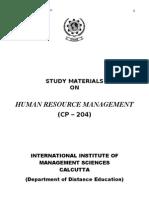 Human Resource Management (CP-204)