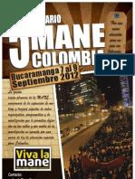 Afiche convocatoria 5to Encuentro plenario de la MANE