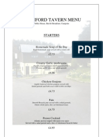 Colliford Tavern Menu
