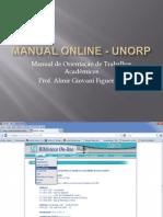 Manual Online de Trabalhos Acadêmicos UNORP
