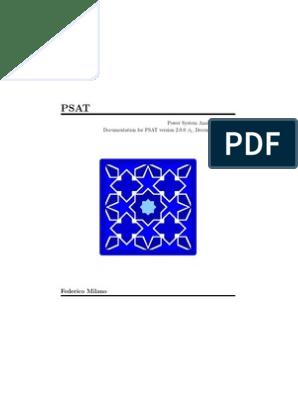 manual PSAT pdf | Electric Power System | Matlab