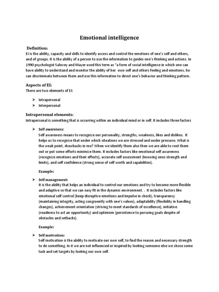 Emotional intelligence: Definition