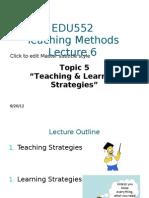 EDU552 Lecture 6