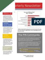 PIN Newsletter second quarter 2012