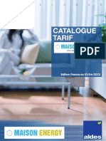 Catalogue AldesTarif 2012