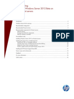 Implementing Microsoft Windows Server 2012 Beta on HP ProLiant Servers